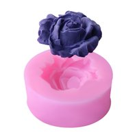 Wholesale flower chocolate molds - 1PC Silicone Cake Mold High Quality 3D Rose Flower Shape Bread Pan Chocolate Soap Molds Cake Stencils Bakery Pastry Baking Tools