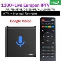 Wholesale core accounts - ATM-M google voice tv box S905X with QHDTV 1year 1300+ Arabic French IPTV Account subscription Spain African Android APK QHDTV VOD iptv code