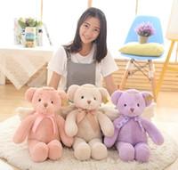 baby plüschtiere teddybären großhandel-1 stücke 40 cm New Angel Teddybär Plüschtiere Nette Engel Bär Gefüllte Puppen Festival Geschenke Für Baby Kinder