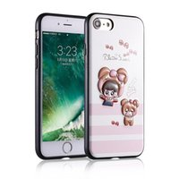 Wholesale puppy iphone case - Phone case For iPhone Samsung OPPO Cute 3D TPU+PU Fashion Puppy Girl and Bear Gentleman Kitten