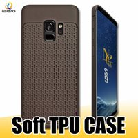 Wholesale samsung solid phone online – custom Ultra Slim TPU Phone Case Shockproof Lattice Veins Solid Color Cover for iPhone XS MAX XR X Samsung S10e S10 Plus izeso