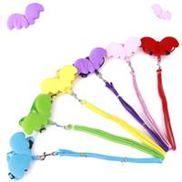 diseño de correa al por mayor-Cat Puppy Collars And Leash Tamaño ajustable Colorido diseño creativo Angel Dog Harness Pet Supplies 5 9md3 C