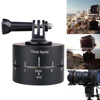 Wholesale degrees camera tripod for sale - JEING Degree Time lapse Auto Rotate Camera Tripod Head Base Rotating Timelapse for SLR For iphone