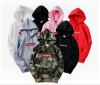 Wholesale Couple Hoodies Women Men - 2017 new design tide brand Europe Japanese embroidery hooded hoodies sup cotton hoodie coat wear couples men and women students but Tour de