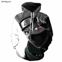 Wholesale naruto sasuke jacket for sale - Mr MayLan D Print Red Eye Uzumaki Naruto Sasuke Anime Hooded Sweatshirt Men Women Outerwear Casual Pullover Hoodies Jacket XL
