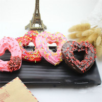 Wholesale love toy heart - Love Heart Shaped Bread Squishy Decompression Toys Squishies Slowly Rising Squeeze Toy Children Gifts Colourful 3 7km C