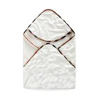 ingrosso accappatoio per bambini-Accappatoio neonato in stile plaid classico Fodera in cotone con cappuccio per bambini di alta qualità