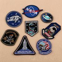 neuheit jeans großhandel-DIY Stickerei Patch Astronaut Air Force Taucher Tasche Jeans Hut Nähzubehör Neuheit Space Pilot Patches Neue Ankunft 1 5dk KK