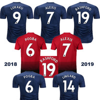 a medida que el jersey al por mayor-18 19 Hecho a medida en Tailandia IBRAHIMOVIC JAMES POGBA LUKAKU Jersey de fútbol de punto MEMPHIS MATA ROONEY 2018 Jersey de fútbol de hombre Shirt 2019