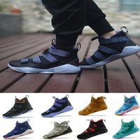 Wholesale Cheap Baskets For Sale - 2018 Top quality James XI Soldiers 11 Basketball Shoes for BHM White Gold Navy Wheat Cheap Sale Airs Cushion Men's Sport Sneakers Size40-46