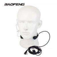 ingrosso microfono baofeng uv 5r-Microfono estensibile PTT per microfono Auricolare per microfono per Baofeng CB Radio Walkie Talkie UV-5R 8W UV-5RE UV-B5 GT-3