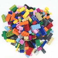 building blocks toys toptan satış-Wholesale-1000pcs Tasarımcı DIY Hediye Oyuncak Yapı Taşları Tuğla Oluşturucu Set Eğitim Montaj Oyuncaklar INGly Tuğla Ile Uyumlu