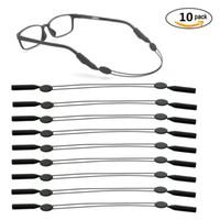 boyun kord bezi tutacağı toptan satış-(10 adet) gözlük spor kordon Sunglass Tutucu Tutucu Askı, kaymaz Güvenlik Gözlükleri Askı Boyun Kordon Dize Gözlük Gözlükler Bant Halat