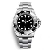 Wholesale mens black watches online - Luxury AAA Mens Watch Deep Ceramic Bezel SEA Dweller mm Stanless Steel Glide Lock Clasp Automatic Mechanical mens Watches Chrono
