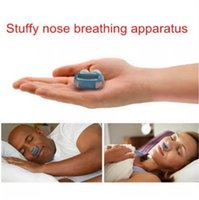 Wholesale nose snore stopper - 2018 Newest 2 in 1 Anti Stop Snoring Snore Free Magnetic Silicone Snore Stopper Sleep Device free DHL shipping