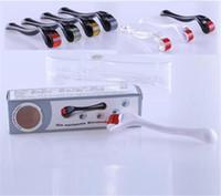 agulhas dermaroller venda por atacado-Rolo de pele de 540 agulhas derma pele de agulha micro rolo dermaroller pele beleza ferramenta 0.2mm -3.0mm agulhas com 3 cores