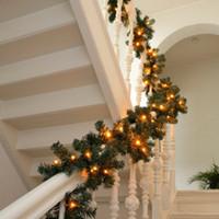Wholesale pine tree decoration resale online - NEW Design Artificial Christmas Garland Green Pine Tree Wedding Decoration New Year Xmas Props Diy Feliz Navidad Party Led String Light
