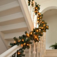 luzes de corda para árvore de natal venda por atacado-NOVO Projeto do Natal Garland Artificial Verde Pine Tree Wedding Decoração Ano Novo Props Xmas Diy Feliz Navidad Partido Luz LED String