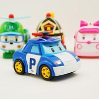 Wholesale poli car toys for sale - Robocar Poli Transformation Robot Car Toys Korea Robocar Poli Toys For Children Gifts Set Without Box