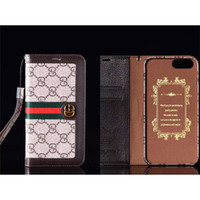 mini pad mobile phone NZ - High-end Fashion Creative Flip Mobile Phone Back Cover for IPhone 6s 7 8 Plus X Luxury Brand Pu Leather Card Slot Phone Case