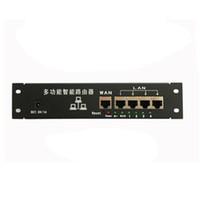 intelligenter fall großhandel-Shenzhen Lieferant Direktverkauf OEM Mini Metallgehäuse intelligente verdrahtete Verteilerkasten 5-Port Router Draht Router IP 192.168.0.1