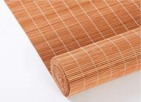 sombras romanas al por mayor-Sombra romana de bambú personalizada con cenefa para el restaurante del hotel Wester Ventana enrollable de bambú Pantalla parasol Sombra china de estilo antiguo
