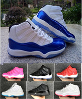 Wholesale Birthday For Boys - kids sneakers retro 11 basketball shoes 2018 for boys girls black red white XI sale high top quality Sneakers Toddlers Birthday Gift, 11C-3Y