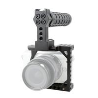 dslr gaiola superior venda por atacado-CAMVATE pequeno porte DSLR gaiola com a NATO Top alça para Sony A6000 / A6300 / A6400 / A6500 / A6600 Canon Eos M / M10 Código do item: C1864