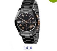 ingrosso migliori orologi cronografo-MIGLIORE QUALITÀ PREZZO Amanti AR1400 AR1401 AR1403 AR1404 AR1410 AR1411 AR1416 AR1417 CRONOGRAFO CERAMICO OROLOGIO Scatola originale + Certificato