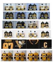 jerseys pingüinos al por mayor-2019 Oro Tercer 87 Sidney Crosby Kris Letang Mario Lemieux Evgeni Malkin Phil Kessel 30 Murray Guentzel Pittsburgh Penguins Hockey Jersey