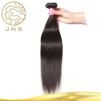 Wholesale cheap real human hair weave - Real Cheap Brazilian 100% Unprocessed Hair Straight Weaves Straight Bundles Deal Virgin Hair 8-30inch Natural Color human hair weaving