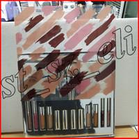 Wholesale concealer lipstick resale online - Silver Series Makeup Set Wet Set Blue Honey Palette Skin Concealer Lipstick Lip Gloss Make up Brushes
