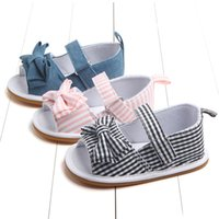 Wholesale toddlers footwear resale online - 3 Colors Baby kids sneakers sandals Girls Retro Plaid Butterfly shoes Infant Toddler First Walkers Kids designer Shoes Children Footwear