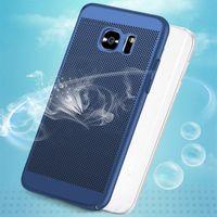 étui arrière pour samsung s6 edge achat en gros de-Couverture rigide en carbone de haute qualité pour Samsung Galaxy S5 S6 S7 Edge S8 S9 Plus Couverture en plastique