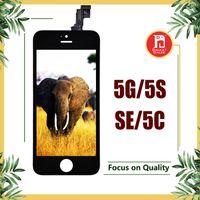iphone 5c 5s lcd al por mayor-Asamblea del digitizador de la pantalla táctil de la exhibición del LCD con el reemplazo de la reparación del marco para el iPhone 5 para el iPhone 5s 5SE para el iphone 5c