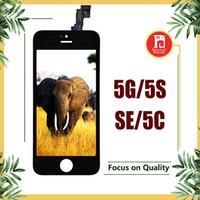 iphone 5c 5s lcd venda por atacado-Conjunto de digitalizador de tela de toque de display lcd com substituição de reparo de quadro para iphone 5 para iphone 5s 5se para iphone 5c