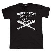 стержневая муфта оптовых-Не трогайте мой автомобиль мужская смешная футболка, JDM хотрод американский мышцы классический автомобиль пара