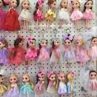 Wholesale Princess Throw - Lovely Princess Wedding Doll Backpack Keychain Pendants Charm Toy Throw Favors Children Charm Gift Baby Dolls 3 5yj W