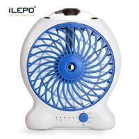 Wholesale Water Fan Misting - Mini Water Mist Cooling Fan With 1200mAh Rechargeable 18650 Battery 25ml Water Tank Portable USB Spray Fan 3 Level Strong Wind Power