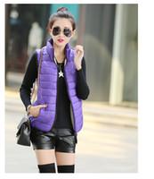 ärmellose winterjacken für damen großhandel-Standard Plus Size Frauen Sleeveless Jacke Winter Korean Short Cotton Regelmäßige Grundabsatz Slim Coat Oberbekleidung Neu