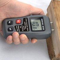 medidor de humedad higrómetro al por mayor-0-99.9% Dos pines Medidor de humedad de madera digital Probador de humedad en caliente 0.5 por ciento Precisión Higrómetro Detector de humedad de la madera MT10