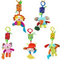 детские игрушки для мальчика оптовых-Baby Toys Baby Accessories Animal Handbells Musical Developmental Toy Bed Bells Kids Toys Rattle Animal Hanging Bell Toy