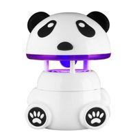 Wholesale led panda lamp - Cute Panda Shape Non-radiation USB Photocatalysis Mosquito Killer Lamp Household Mute Safety LED Anti Mosquito Dispeller Q0538