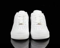 açık paten ayakkabıları toptan satış-2018 sıcak yeni deri rahat ayakkabılar düşük kesim düz beyaz deri skate ayakkabı gençlik erkekler ve kadınlar klasik açık tenis ayakkabıları