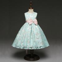 vestidos de niña mariposa al por mayor-Fancy Butterfly Kids Girl Wedding Girl Flower Dress Dress Princesa Fiesta Vestido Formal Prom Little Baby Girl Vestido de cumpleaños