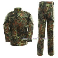 Wholesale army camo uniforms for sale - German Camo Army Uniform Camouflage Suit Paintball Clothing Combat Pants Tactical Shirt