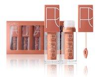 dudak parlatıcısı ücretsiz nakliye seti toptan satış-Pudaier Marka Makyaj Su Geçirmez Uzun ömürlü Renkler Dudak Parlatıcısı pigment Mat Lipgloss Takımı Mat dudaklar Ruj 5 Renk / set DHL ücretsiz kargo