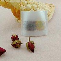 dobrável do saco de chá venda por atacado-12X10 cm De Fibra De Milho Dobrável Saco De Chá Vazio PLA Biodegradado Teabag Filtros Dobre Fechar Saco De Chá QW8843