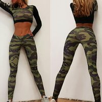 bf576e4e57890 Vertvie New Women Yoga Pants Compression Pants For Fitness Running Workout  Camouflage Tights Running Leggings Elastic