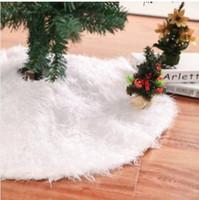 saia de árvore de natal de avental venda por atacado-2019 atacado 78/90 / 122CM White Christmas Tree Saia Stand Avental Ornaments Party Home Decor
